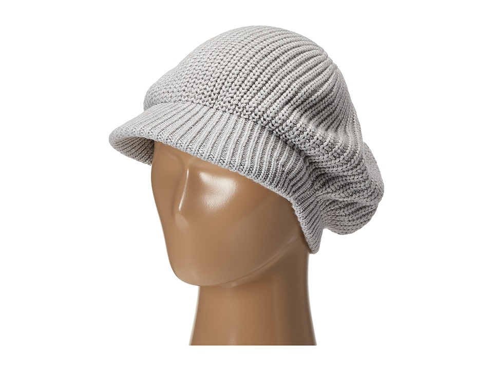 Echo Design - Chunky Newsboy Hat (Light Grey Heather) Caps