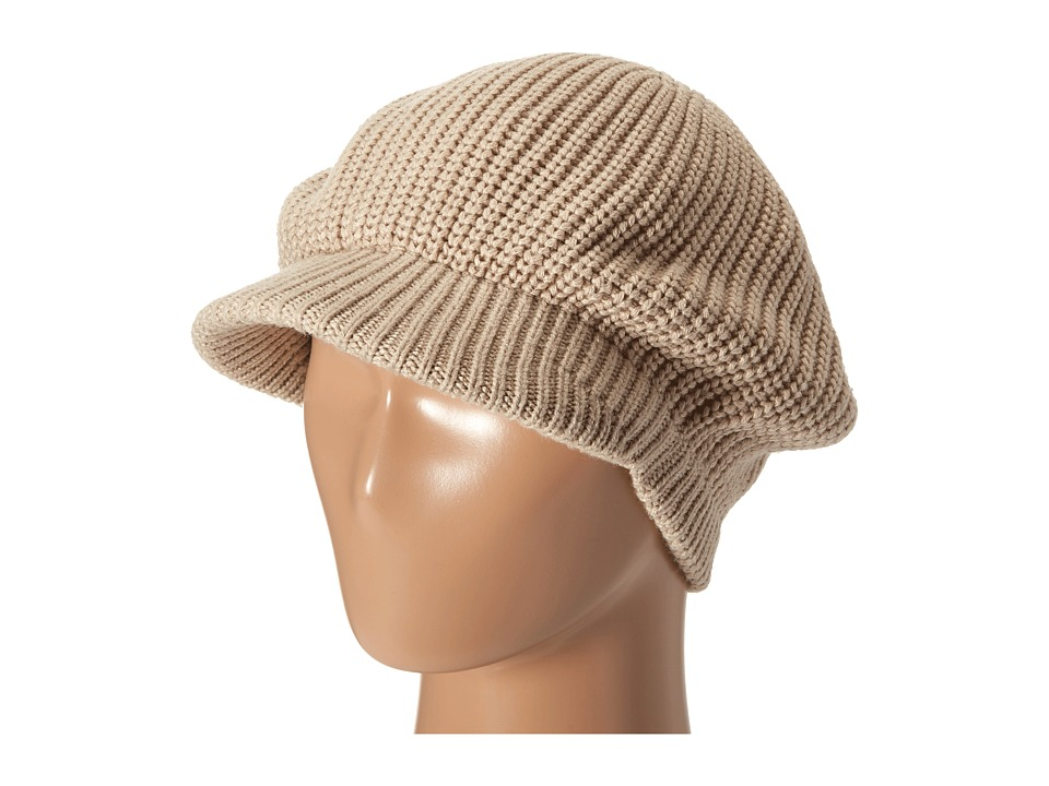 Echo Design - Chunky Newsboy Hat (Oatmeal Heather) Caps