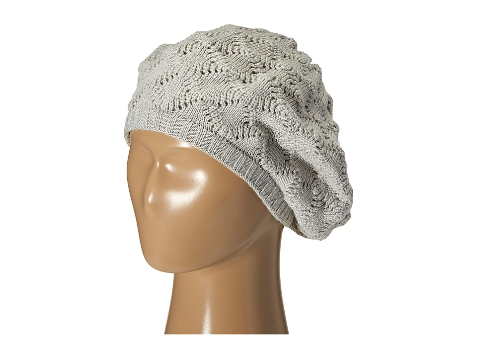 Echo Design - Msoft Pointelle Beret (Light Grey Heather) Berets