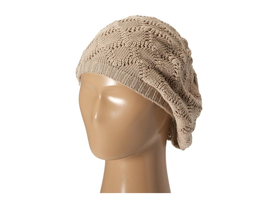 Echo Design - Msoft Pointelle Beret (Oatmeal Heather) Berets