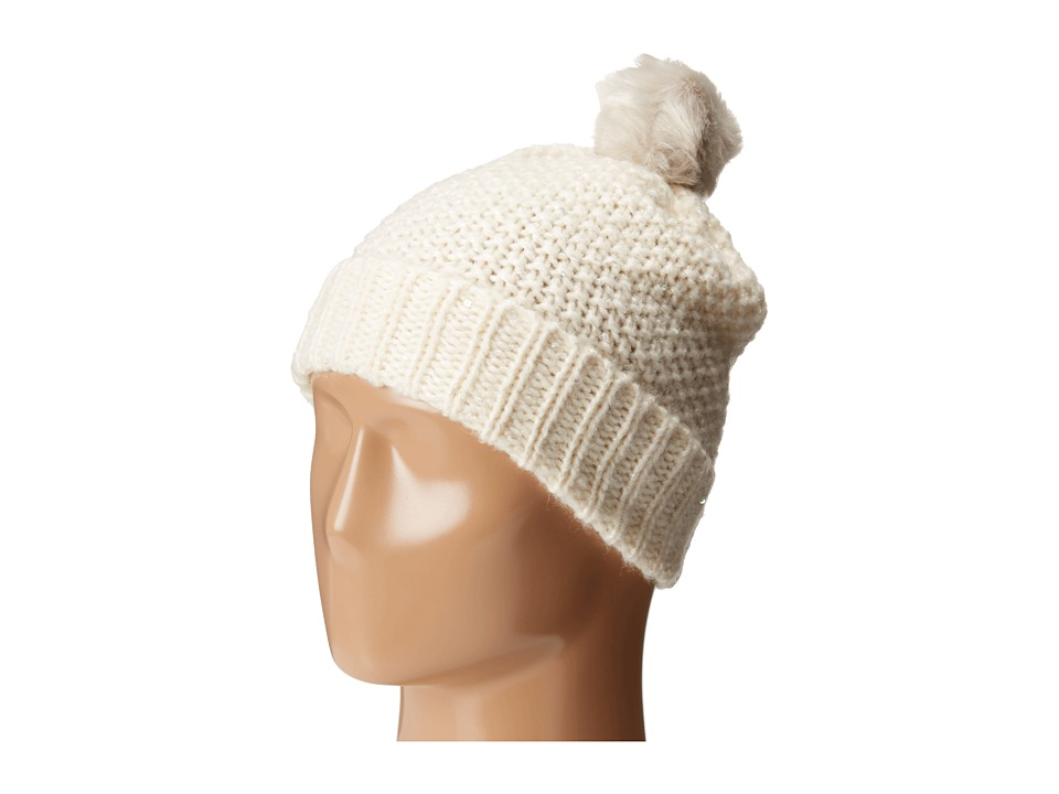 Echo Design - Glimmer Slouchy Hat (Snow White) Snow Hats