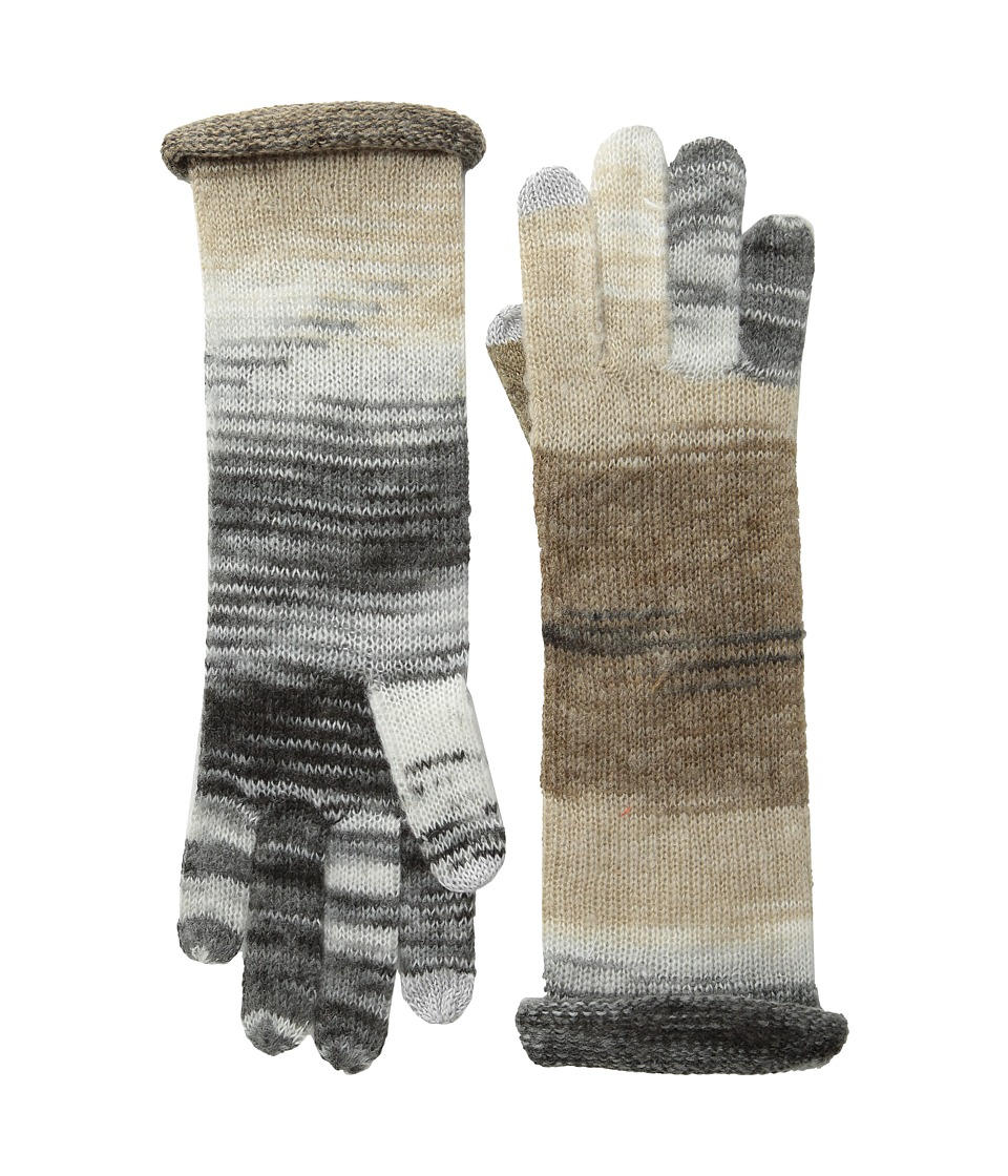 Echo Design - Watercolor Echo Touch Gloves (Black Netural) Wool Gloves