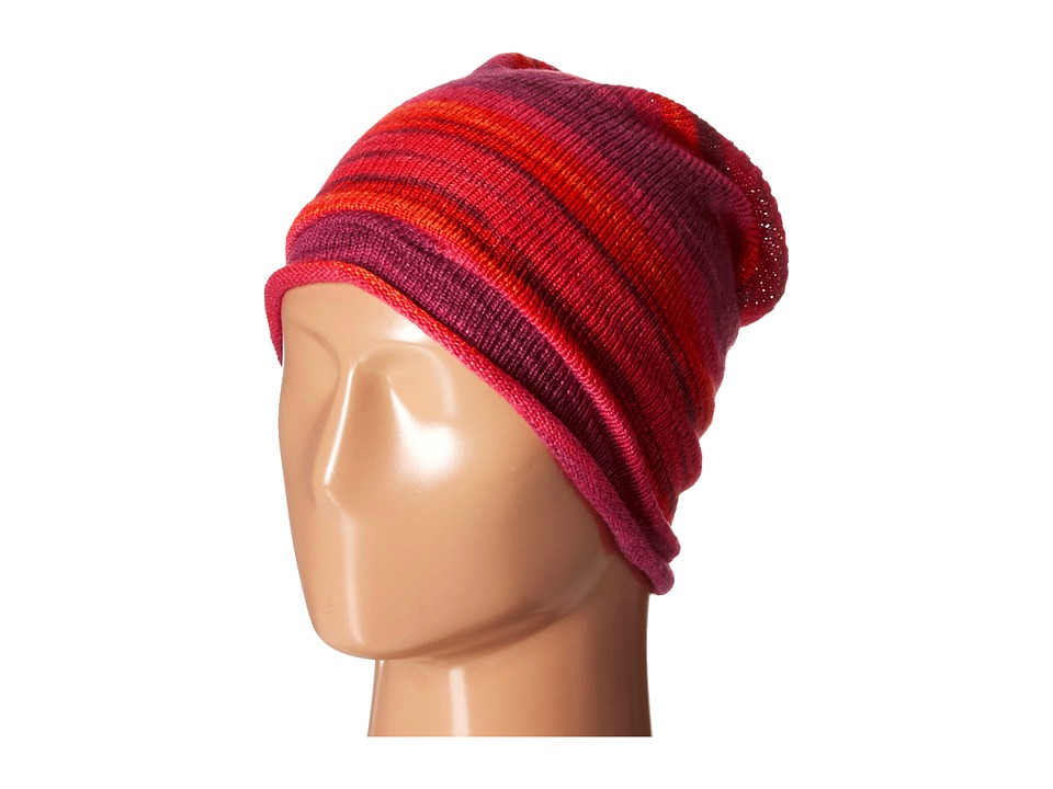 Echo Design - Watercolor Slouchy Hat (Madder Red Heather) Cold Weather Hats