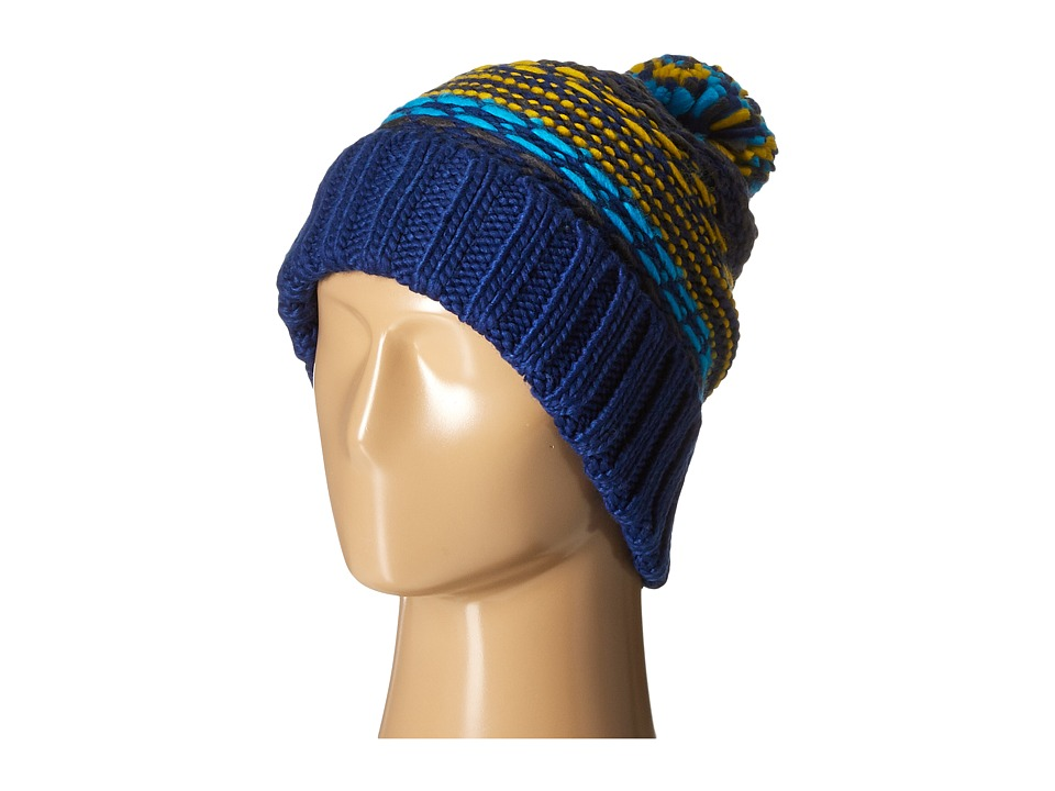 Echo Design - Float Stitch Pom Hat (Ultra Marine) Cold Weather Hats