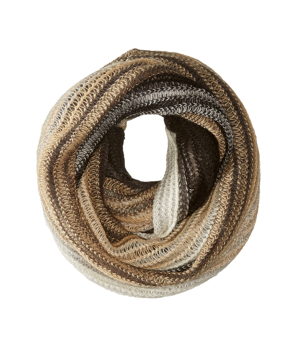 Echo Design - Ombre Stripe Infinity Ring (Black) Scarves