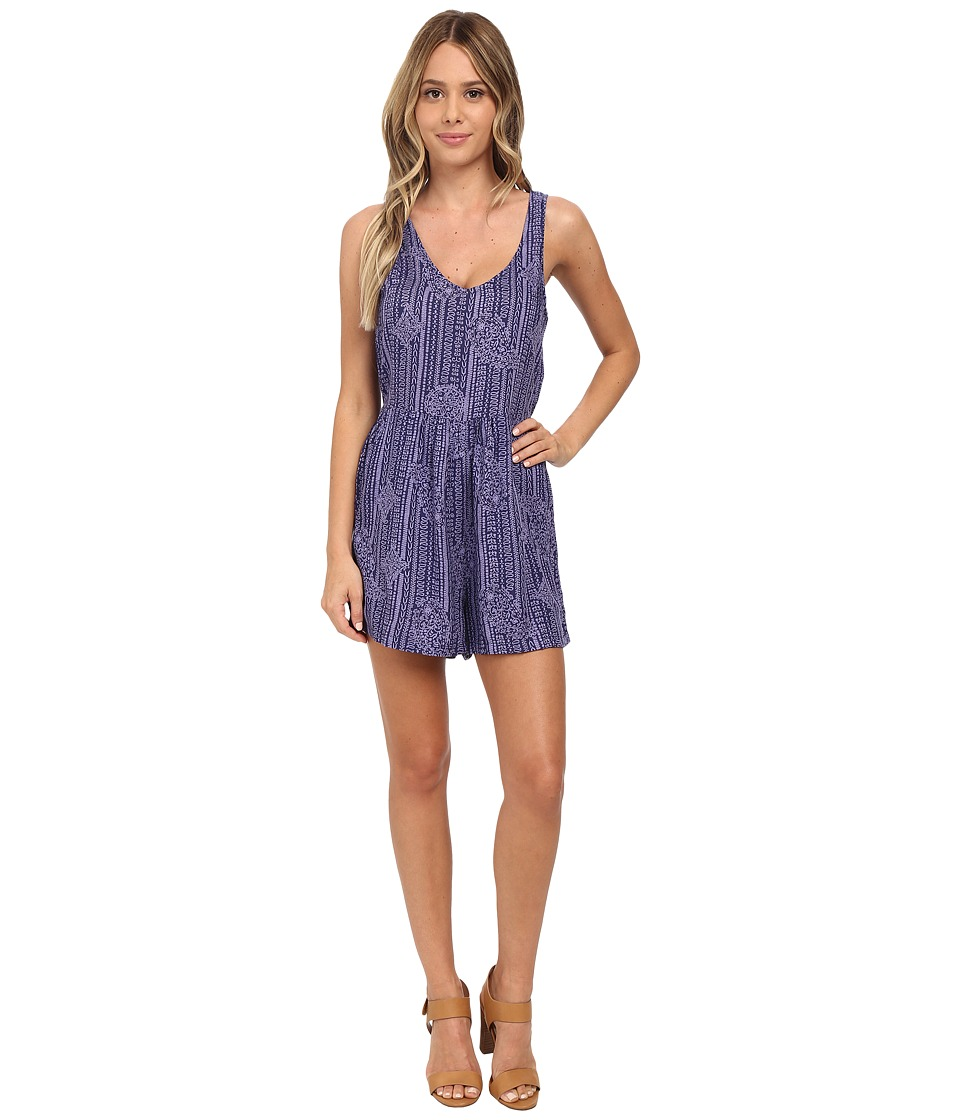 Roxy - Love Bug Print Romper (Light Denim) Women's Jumpsuit & Rompers One Piece