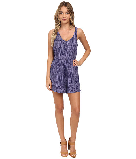 Roxy - Love Bug Print Romper (Light Denim) Women