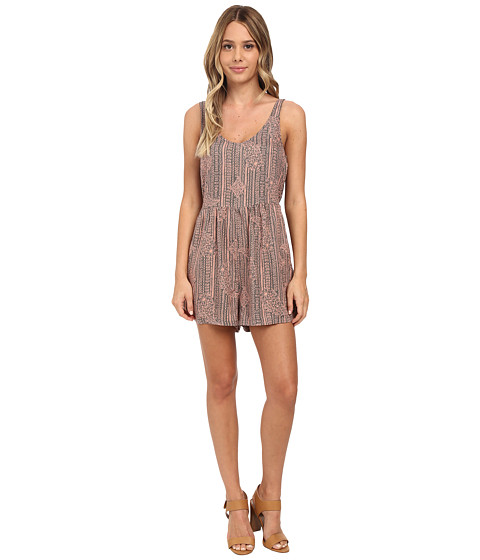Roxy - Love Bug Print Romper (Burnt Coral) Women