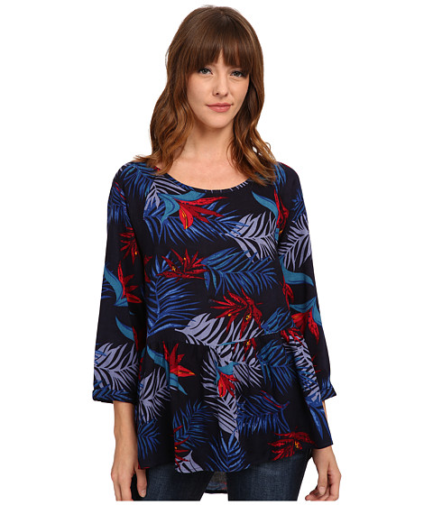 Roxy - Landslide Top (Midnight Palm Dark Navy) Women's Long Sleeve Pullover
