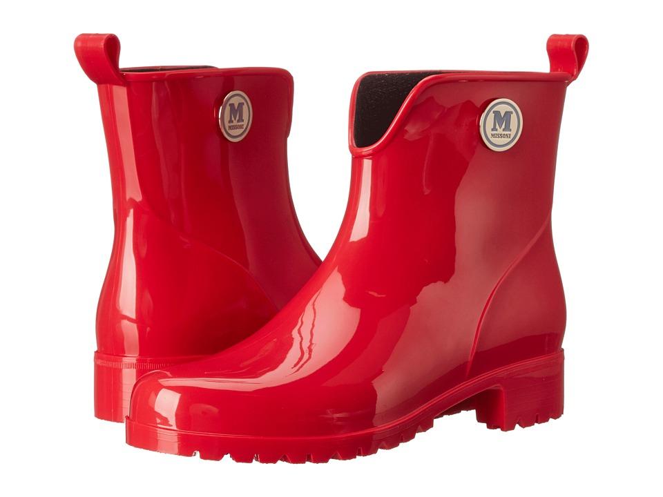 M Missoni - Solid Rain Boot (Red) Women's Rain Boots