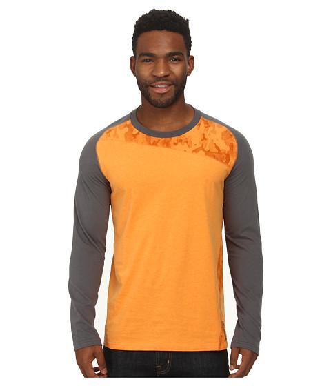 PUMA - MMQ Long Sleeve Pieced Tee (Russet Orange Heather) Men's Long Sleeve Pullover