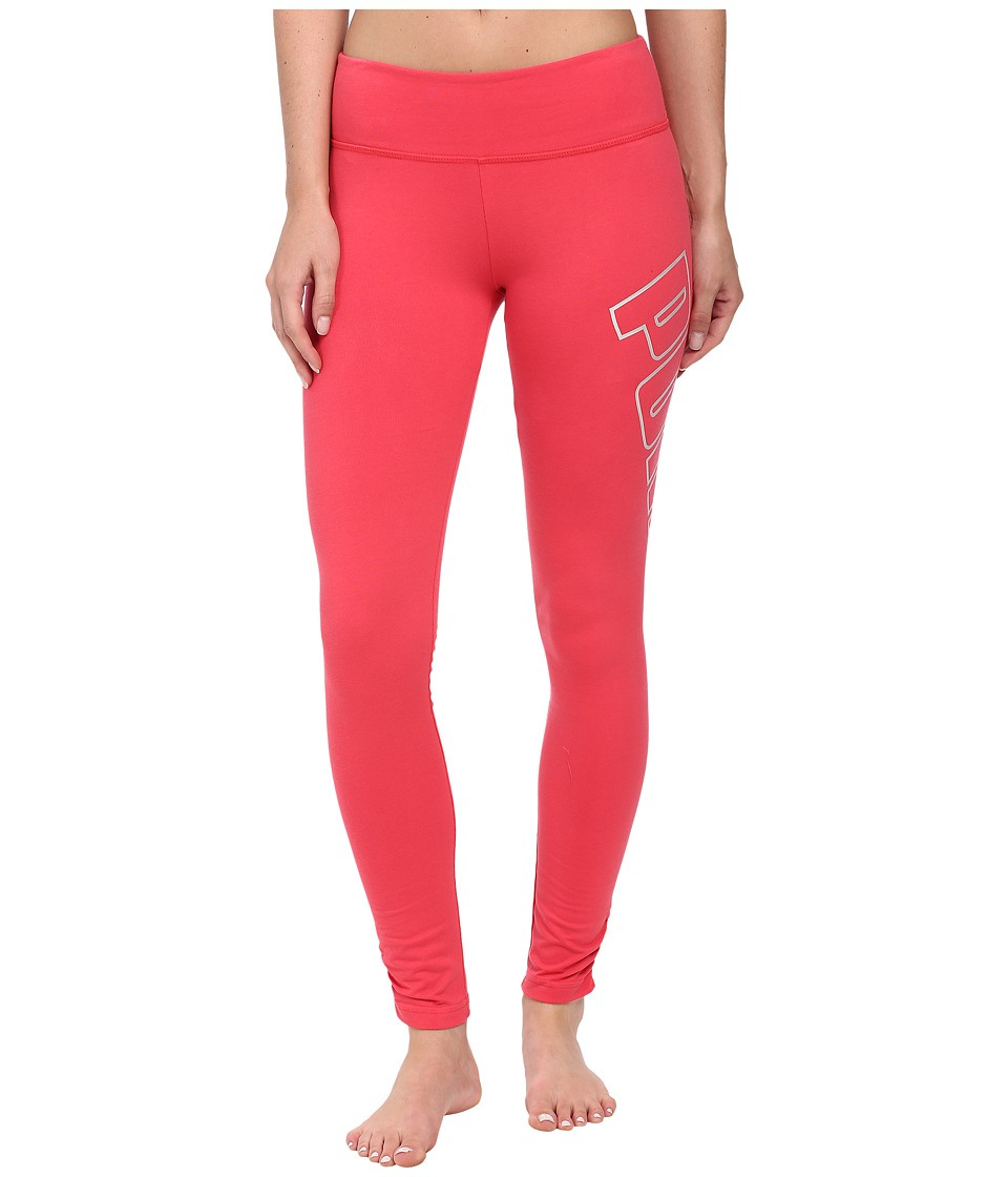 PUMA - Logo Leggings (Geranium) Women's Clothing