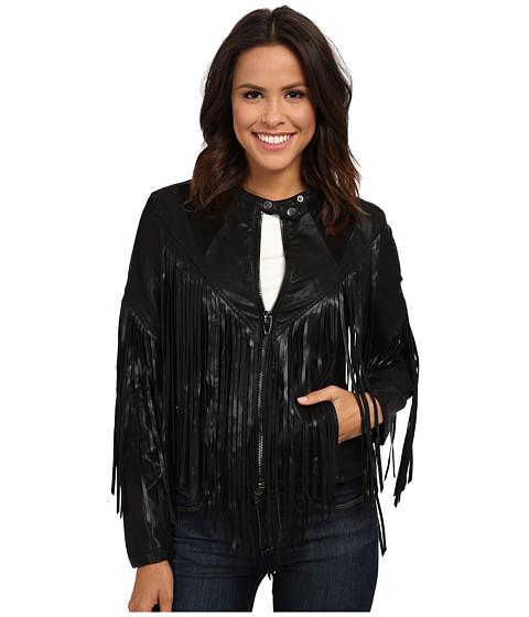 Blank NYC - Fringe Jacket (Black) Women's Coat