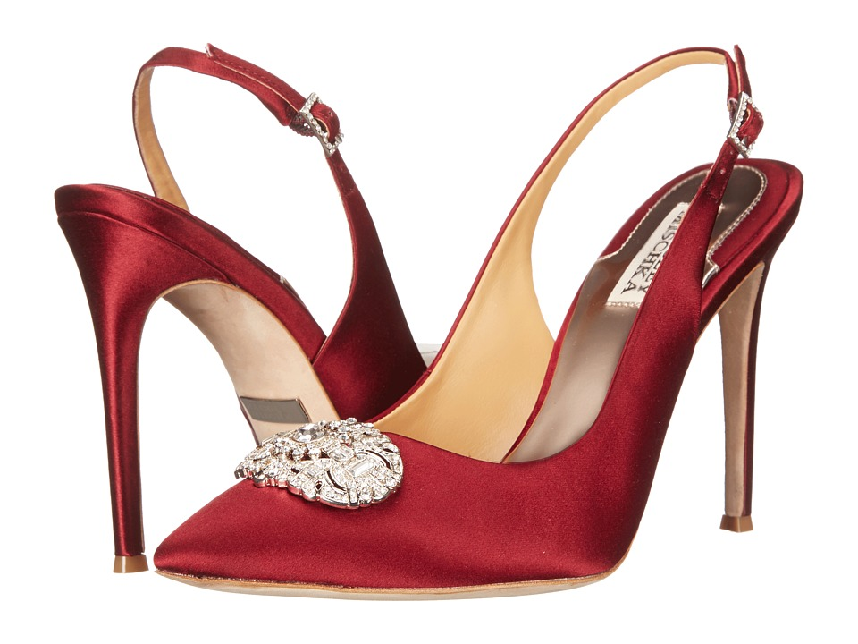 Badgley Mischka - Sansa (Garnet Red Satin) High Heels