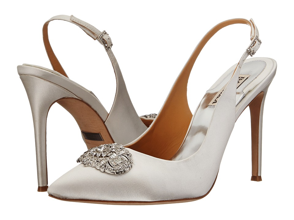 Badgley Mischka - Sansa (White Satin) High Heels