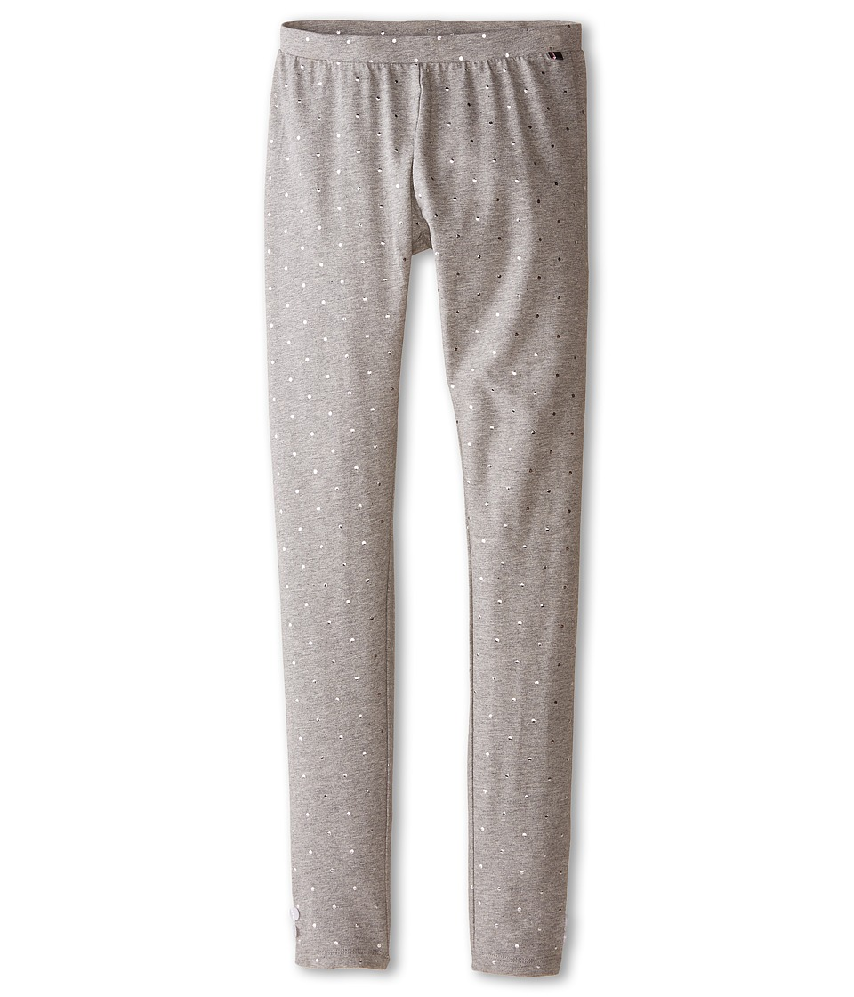 Tommy Hilfiger Kids - Foil Dot Leggings (Big Kids) (Medium Grey Heather) Girl's Casual Pants