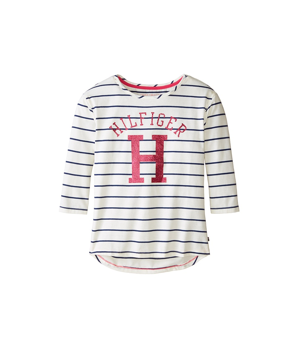 Tommy Hilfiger Kids - Long Sleeve Yarn Dyed Knit Top (Big Kids) (Flag Blue) Girl