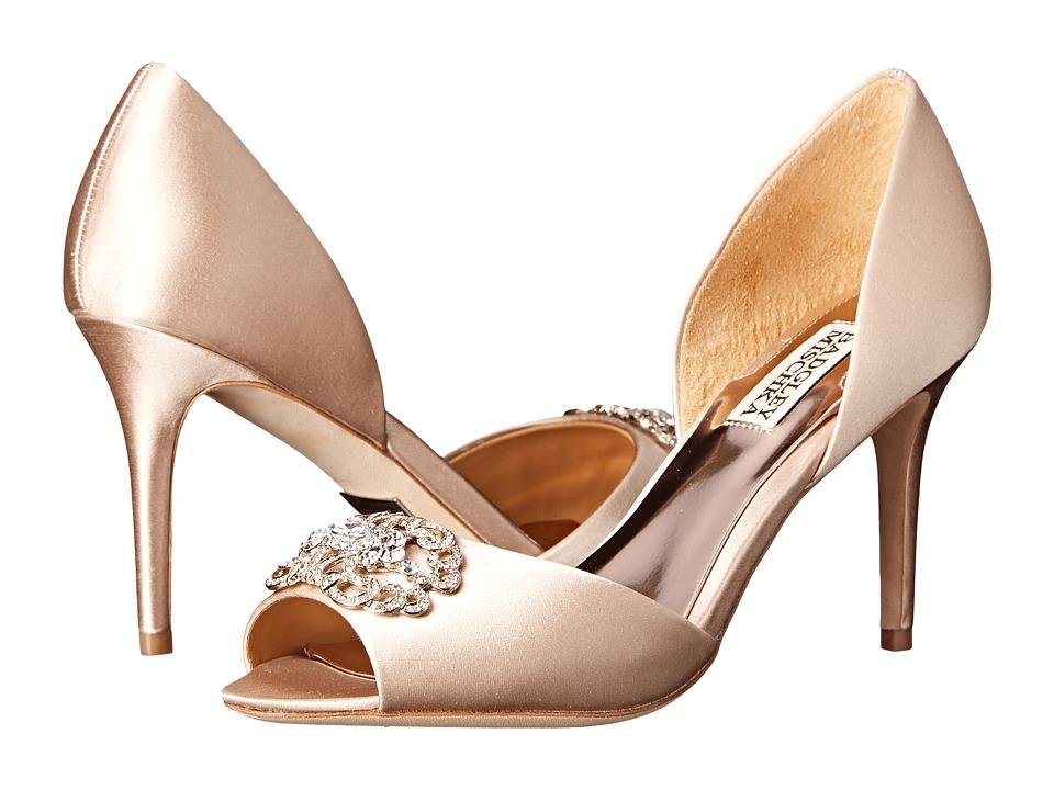Badgley Mischka - Seneca (Latte Satin) High Heels