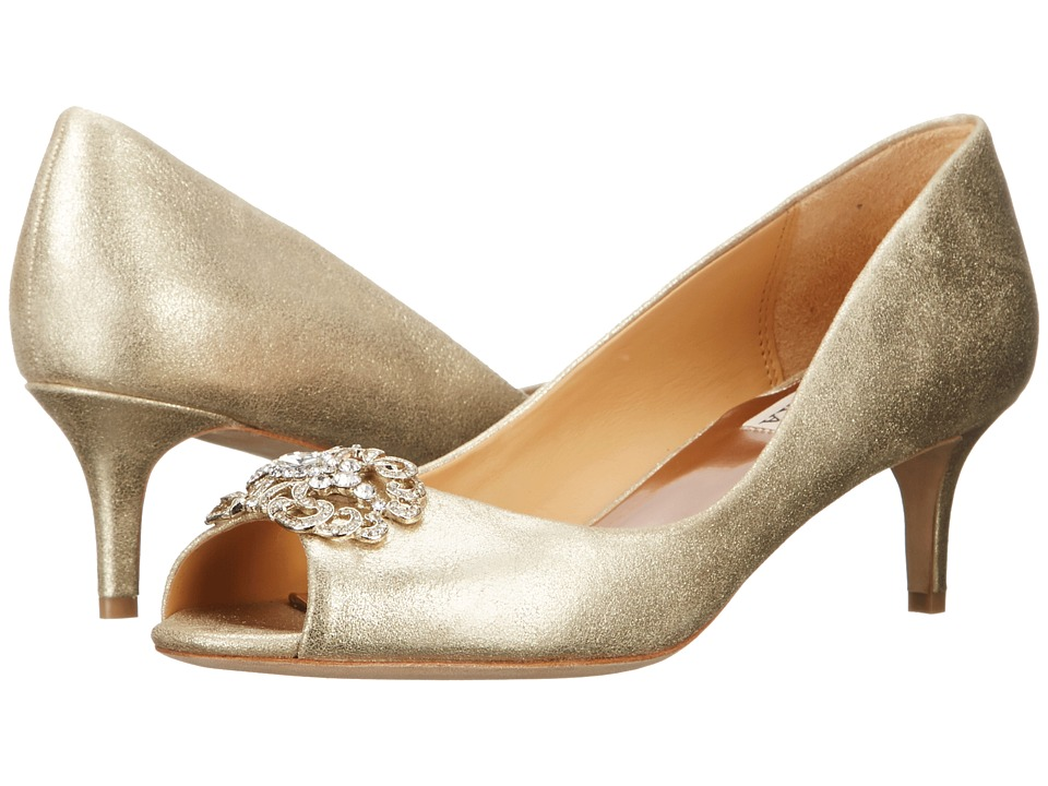 Badgley Mischka - Sensation II (Platino Metallic Suede) Women