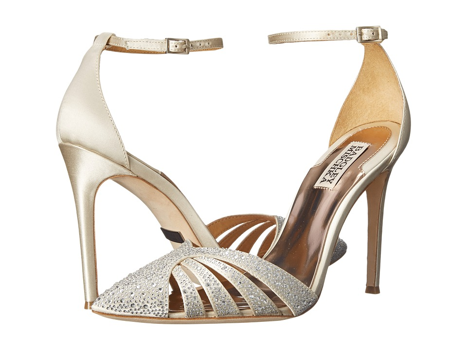 Badgley Mischka - Sirena (Ivory Satin) High Heels