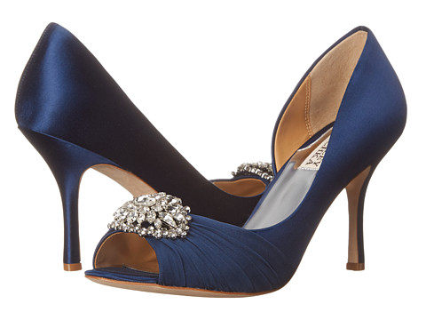 Badgley Mischka - Pearson (Indigo Navy Satin) High Heels