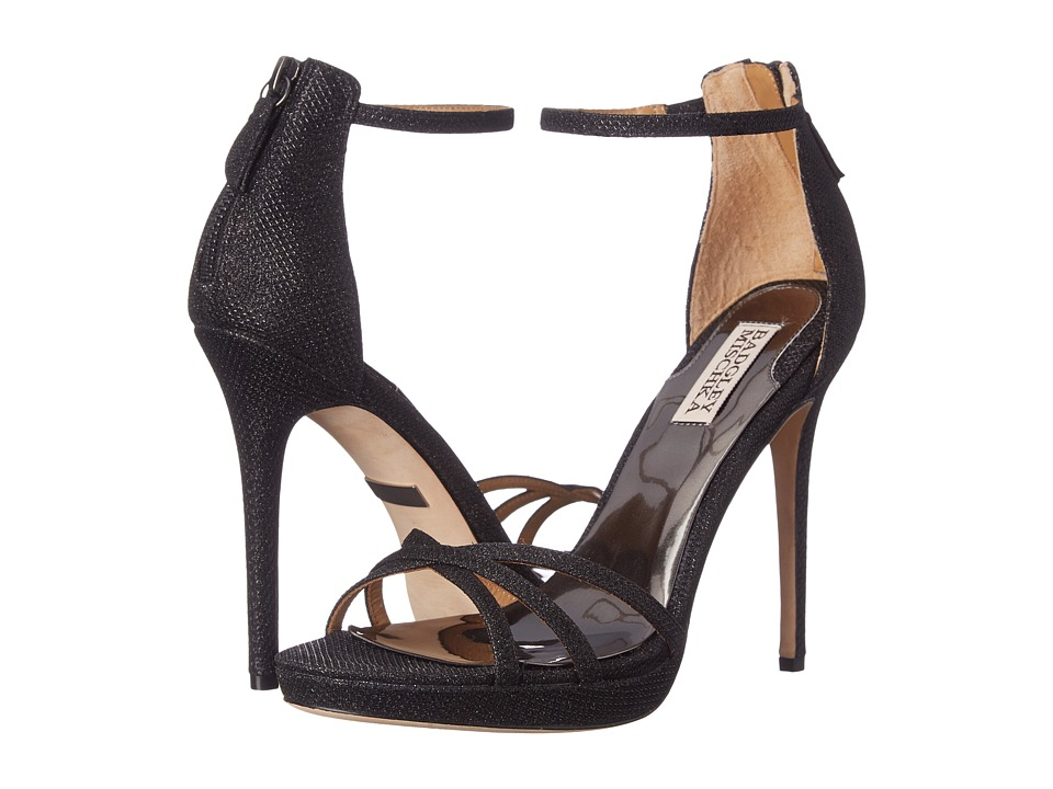 Badgley Mischka - Signify (Black Diamond Drill Fabric) High Heels