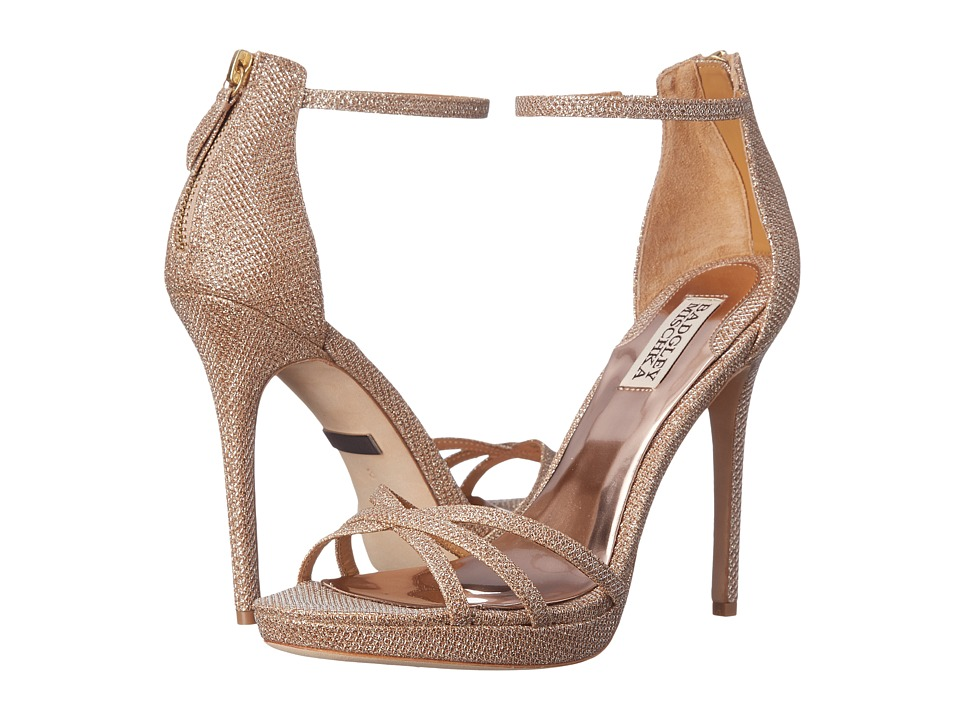 Badgley Mischka - Signify (Latte Diamond Drill Fabric) High Heels