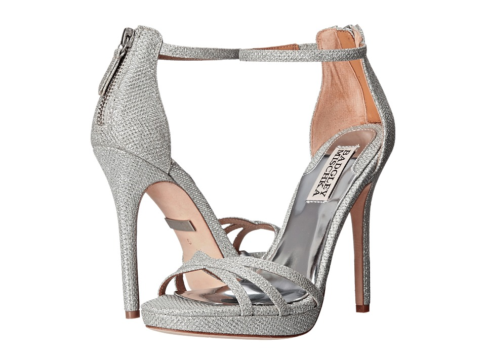 Badgley Mischka - Signify (Silver Diamond Drill Fabric) High Heels