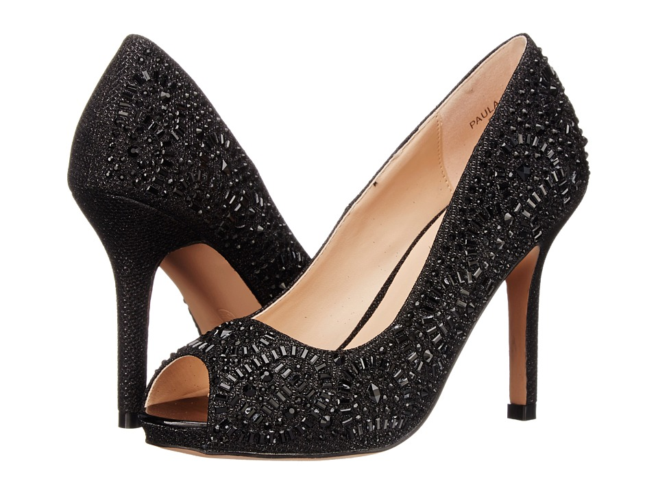 Lauren Lorraine - Paula-2 (Black Sparkle) High Heels