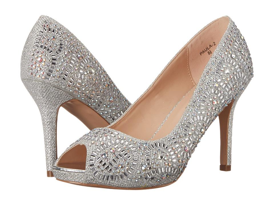 Lauren Lorraine - Paula-2 (Silver Sparkle) High Heels