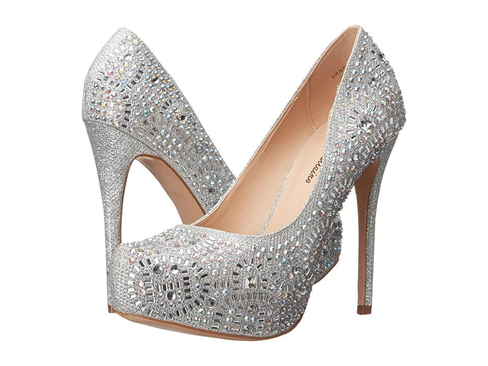 Lauren Lorraine - Vanna-2 (Silver Sparkle) High Heels