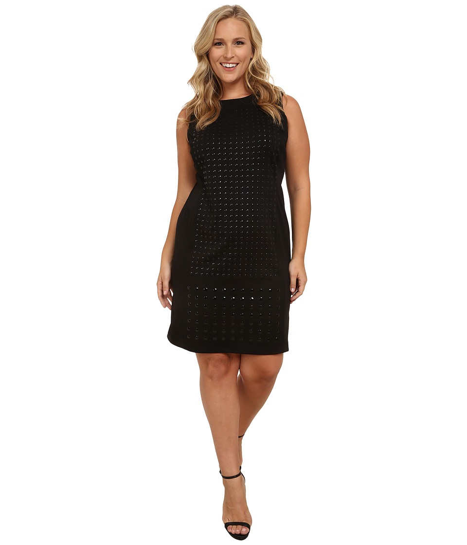 Calvin Klein Plus - Plus Size Sheath w/ Stud Layout (Black) Women's Dress