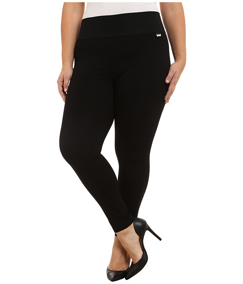 Calvin Klein Plus - Plus Size Power Stretch Leggings (Black) Women