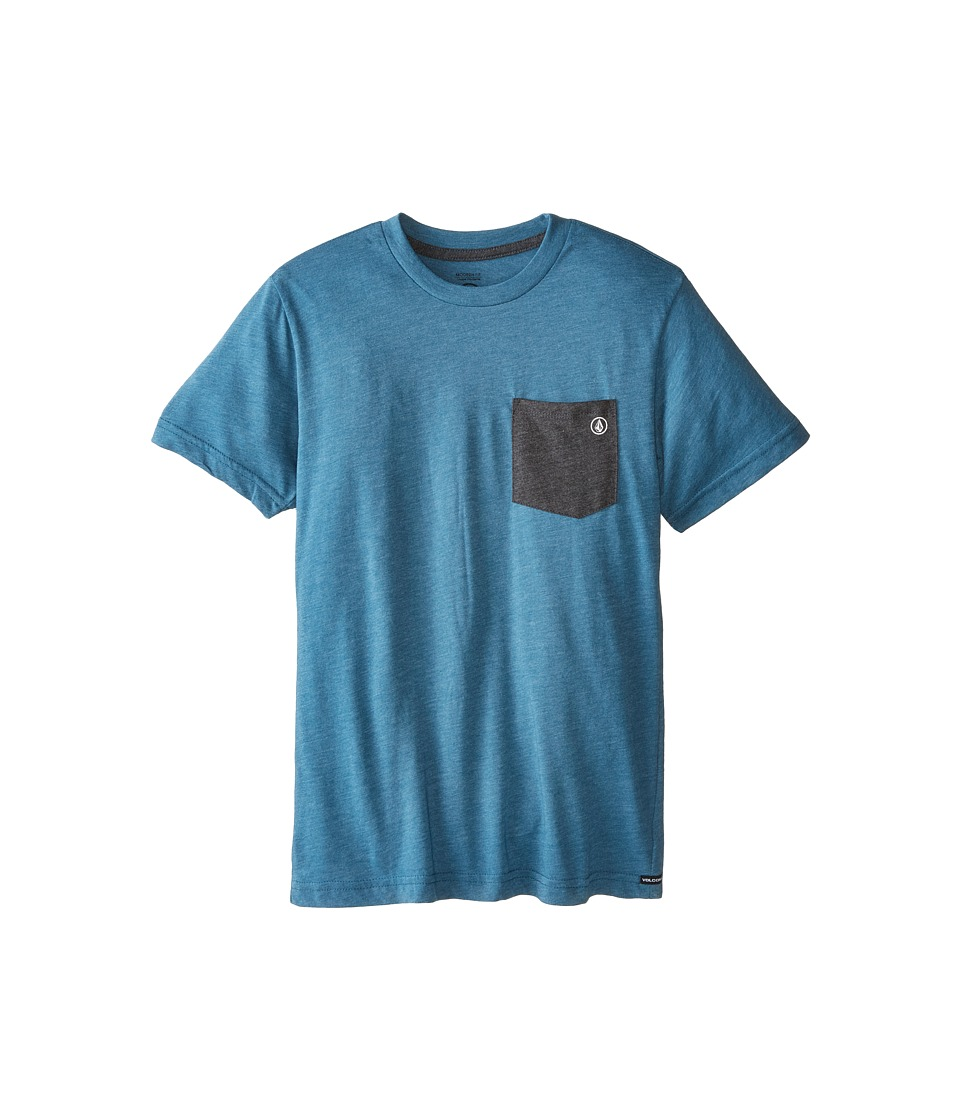 Volcom Kids - Fall Switch Short Sleeve Pocket Tee (Big Kids) (Sun Faded Indigo) Boy's T Shirt