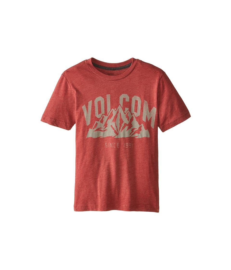 Volcom Kids - Stonith Short Sleeve Tee (Big Kids) (Crimson) Boy's T Shirt