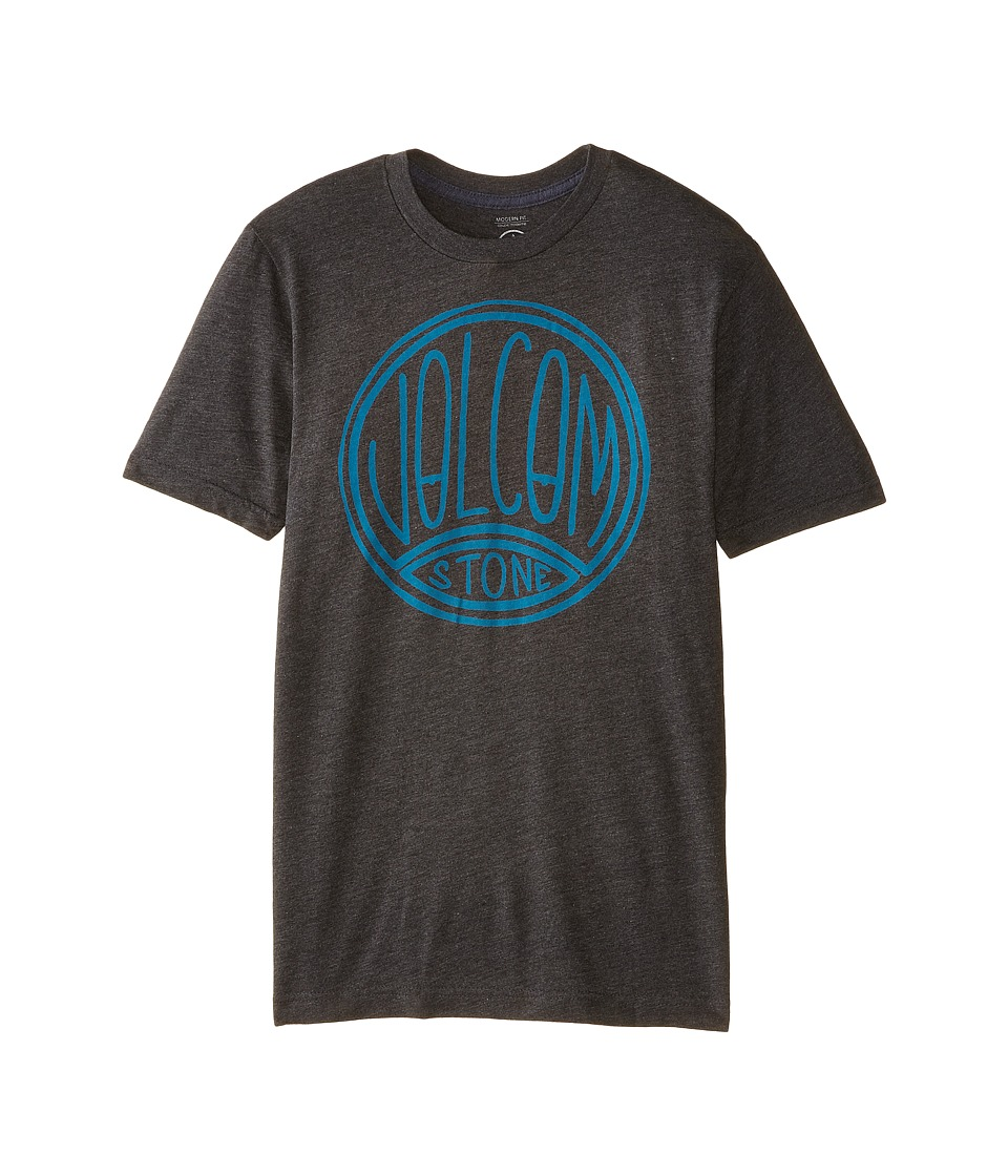 Volcom Kids - Fun Kin Short Sleeve Tee (Big Kids) (Heather Black) Boy's T Shirt