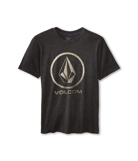 Volcom Kids - Fall Stone Short Sleeve Tee (Big Kids) (Heather Black) Boy's T Shirt