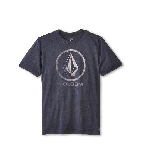 Volcom Kids - Fall Stone Short Sleeve Tee (Big Kids) (Navy) Boy's T Shirt