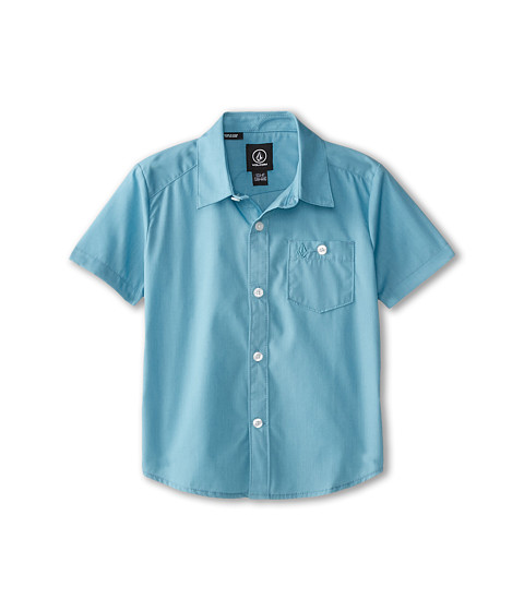 Volcom Kids - Everett Solid S/S (Toddler/Little Kids) (Used Blue) Boy