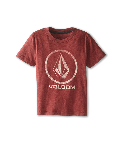 Volcom Kids - Fall Stone Short Sleeve Tee (Toddler/Little Kids) (Crimson) Boy's T Shirt