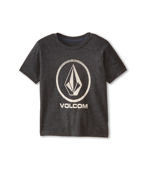 Volcom Kids - Fall Stone Short Sleeve Tee (Toddler/Little Kids) (Heather Black) Boy's T Shirt