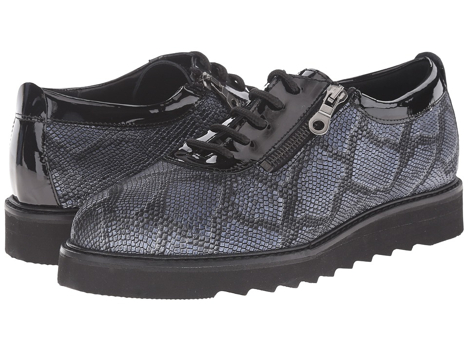 Helle Comfort - Damiana (Black Python) Women's Lace up casual Shoes