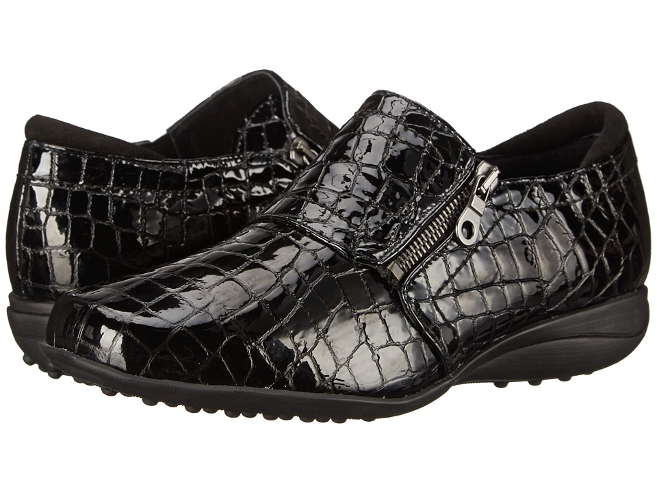 Helle Comfort - Sanas (Black Croco) Women's Shoes
