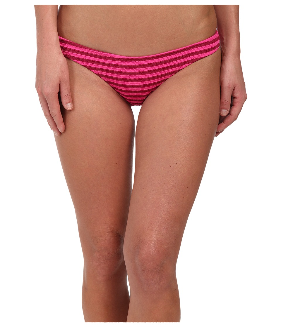 Volcom - Broken Lines Tiny Bottoms (Fiesta Pink) Women's Swimwear