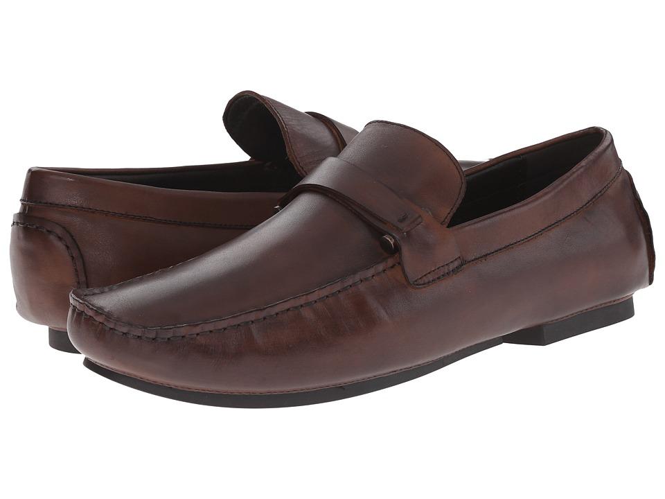 Kenneth Cole Reaction - Bad-Ge (Brown) Men's Slip-on Dress Shoes