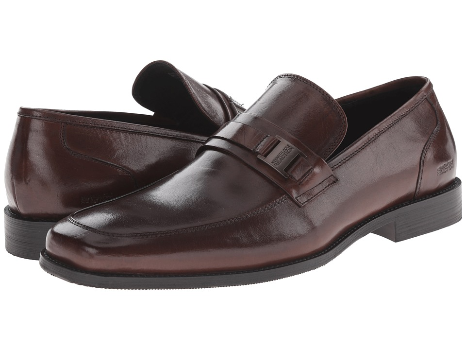 Kenneth Cole Reaction - Bottom-S Up (Brown) Men's Slip-on Dress Shoes