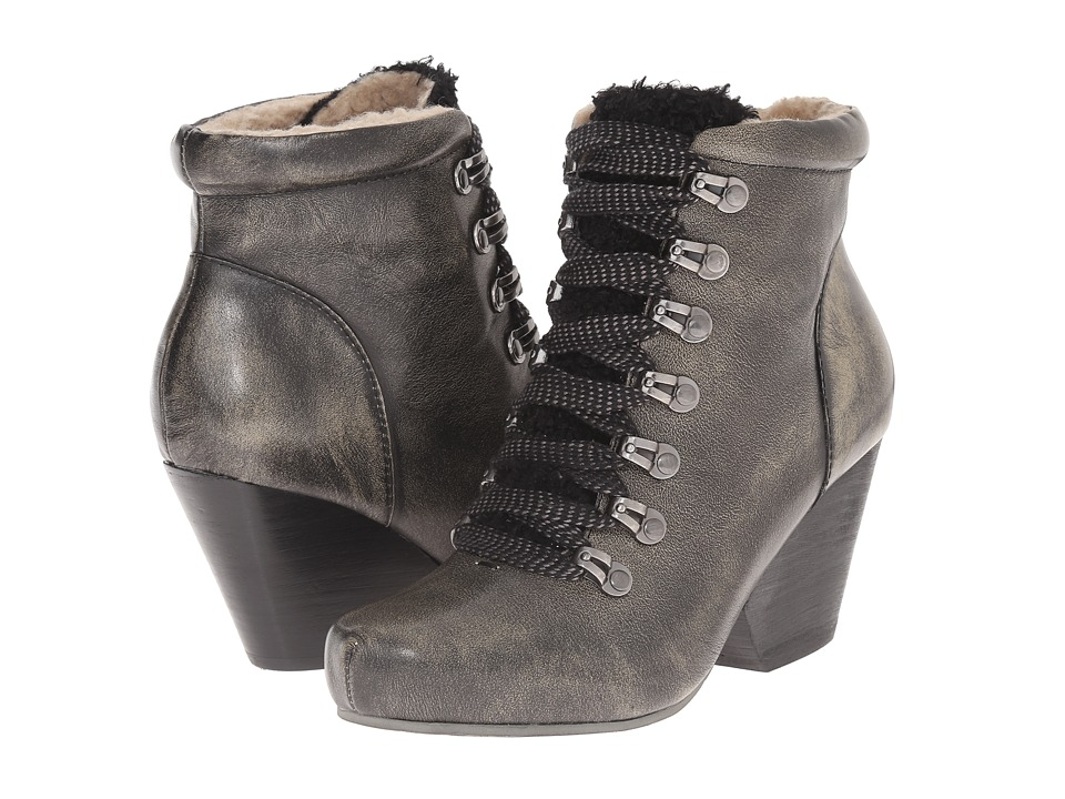 OTBT - Ritchie (Beige Black) Women's Lace-up Boots