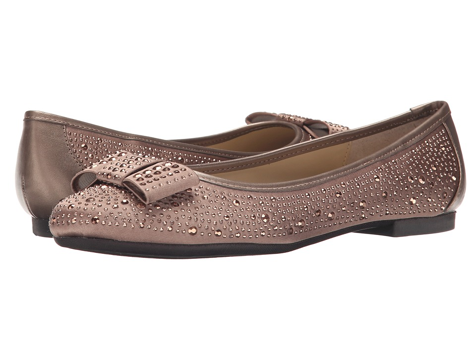 Adrienne Vittadini - Dali (Silky Taupe Satin Fabric) Women's Flat Shoes