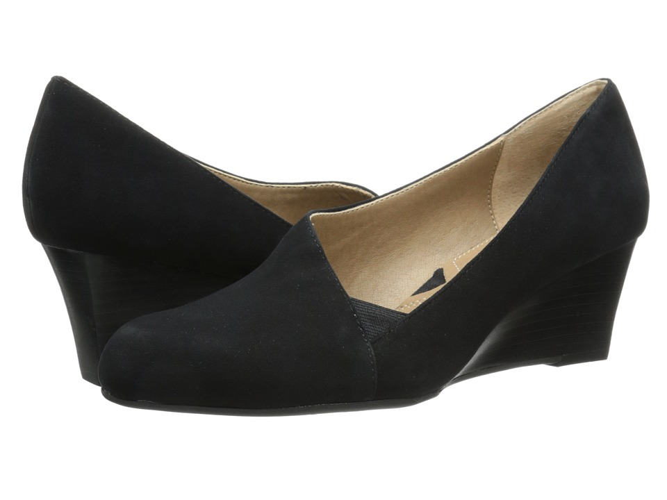 Adrienne Vittadini - Marcio (Black Kid Suede) Women's Wedge Shoes