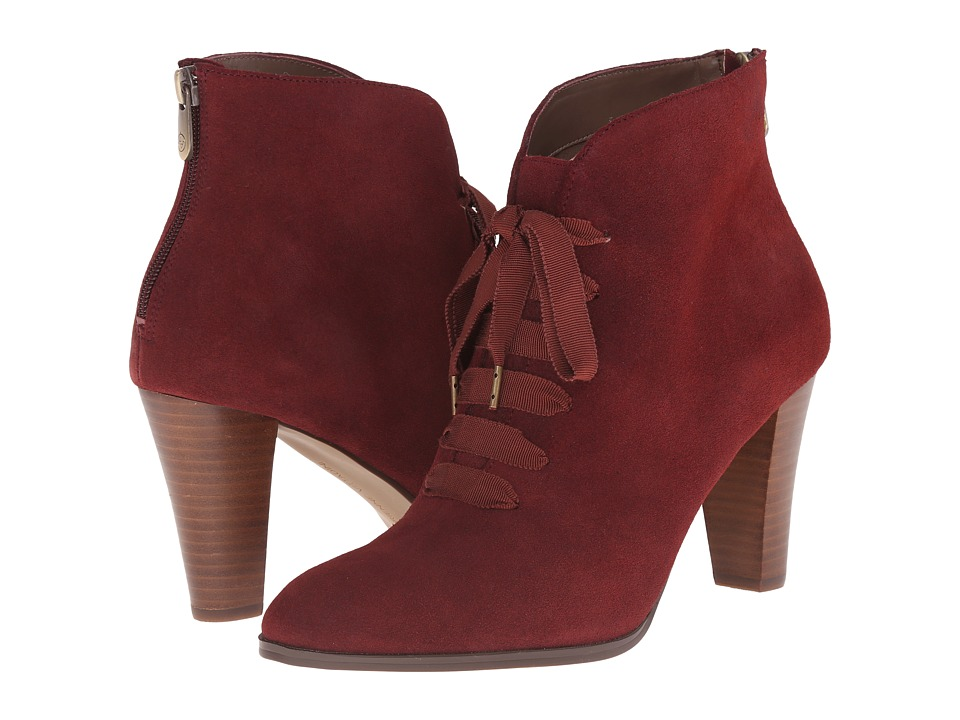 Adrienne Vittadini - Tino (Cranberry Burnished Split Suede) Women's Shoes